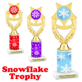 Snowflake theme trophy.  Great for you Winter themed events! ph97