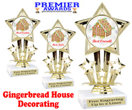 Gingerbread House theme trophy.  Great for your Holiday events, contests and parties