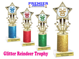 Glitter Reindeer trophy.  Great trophy for all of your holiday events and pageants. 1-757