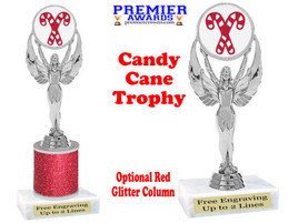 Glitter Candy Cane trophy.  Great trophy for all of your holiday events and pageants. 6010