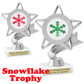 Glitter Snowflake trophy.  Great trophy for all of your holiday events and pageants.   5043s