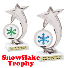 Glitter Snowflake trophy.  Great trophy for all of your holiday events and pageants.   6061