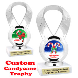 Custom Candy Cane trophy.  Great trophy for all of your holiday events and pageants.   5093s