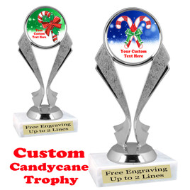Custom Candy Cane trophy.  Great trophy for all of your holiday events and pageants.   5096s
