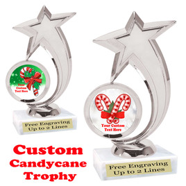 Custom Candy Cane trophy.  Great trophy for all of your holiday events and pageants.  6061s