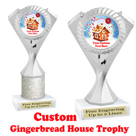 Custom Gingerbread House trophy.  Great trophy for all of your holiday events and pageants.  5455s
