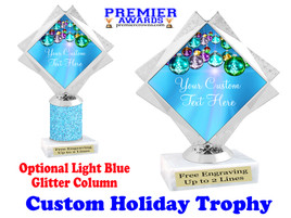 Custom Holiday trophy.  Great trophy for all of your holiday events and pageants. 5092-2
