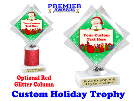 Custom Holiday trophy.  Great trophy for all of your holiday events and pageants. 5092-4