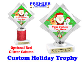 Custom Holiday trophy.  Great trophy for all of your holiday events and pageants. 5092-5