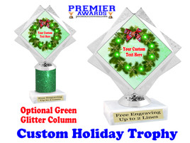 Custom Holiday trophy.  Great trophy for all of your holiday events and pageants. 5092-6