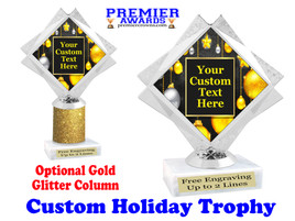 Custom Holiday trophy.  Great trophy for all of your holiday events and pageants. 5092-7