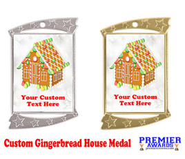 Custom Gingerbread House Medal.  Great for all of your holiday events and parties.