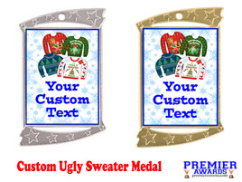 Custom Ugly Sweater Medal.  Great for all of your holiday events and parties. -3