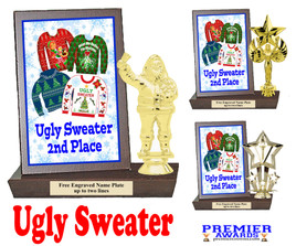 Ugly Sweater Plaque and Figure.   A unique award for all of your Holiday Pageants, Events and more.  2nd Place