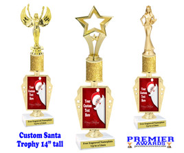 """Custom Santa Trophy.  Great trophy for those Holiday Events, Pageants, Contests and more!   14"""" tall - r450"""