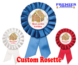 Custom Holiday theme Rosette.  Great award for you Holiday pageants, contests, parties, decorations and more   3
