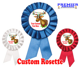 Custom Holiday theme Rosette.  Great award for you Holiday pageants, contests, parties, decorations and more   7