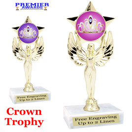 Crown Theme trophy.  Great trophy for your pageants, events, contests and more!   7517