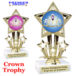 Crown Theme trophy.  Great trophy for your pageants, events, contests and more!   767