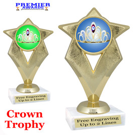 Crown Theme trophy.  Great trophy for your pageants, events, contests and more!   5086g
