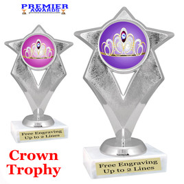 Crown Theme trophy.  Great trophy for your pageants, events, contests and more!   5086s
