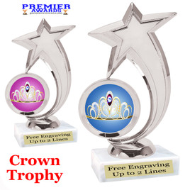 Crown Theme trophy.  Great trophy for your pageants, events, contests and more!   6061s