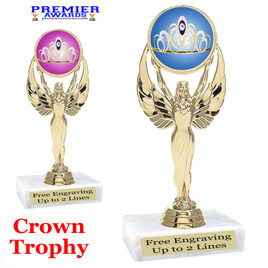 Crown Theme trophy.  Great trophy for your pageants, events, contests and more!   80087