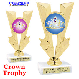 Crown Theme trophy.  Great trophy for your pageants, events, contests and more!   92746