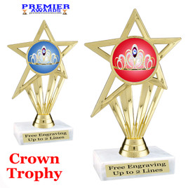 Crown Theme trophy.  Great trophy for your pageants, events, contests and more!   ph30