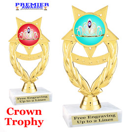 Crown Theme trophy.  Great trophy for your pageants, events, contests and more!   ph97