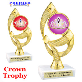 Crown Theme trophy.  Great trophy for your pageants, events, contests and more!   ph108