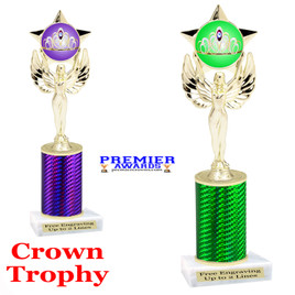 Crown Theme trophy.  Great trophy for your pageants, events, contests and more!   1 Column.  7517