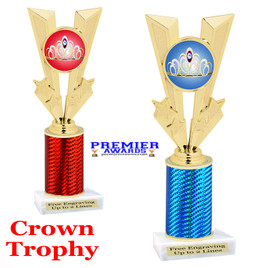 Crown Theme trophy.  Great trophy for your pageants, events, contests and more!   1 Column.  92746