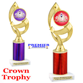 Crown Theme trophy.  Great trophy for your pageants, events, contests and more!   1 Column.  ph108