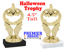 "Carved Pumpkin Trophy - 4 1/2"" tall.  Great for all of your Halloween events!"