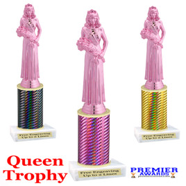 Pink Queen  trophy.  Great trophy for your pageants, events, contests and more!   1 Column.