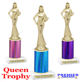 Miss  Queen  trophy.  Great trophy for your pageants, events, contests and more!   1 Column.