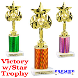 Victory with Star  trophy.  Great trophy for your pageants, events, contests and more!   1 Column.