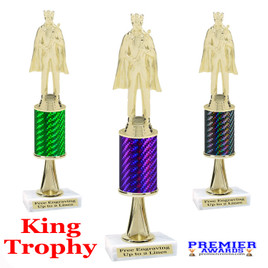 King  trophy.  Great trophy for your pageants, events, contests and more!   1 Column w/stem..