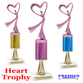 Heart  trophy.  Great trophy for your pageants, events, contests and more!   1 Column w/stem..
