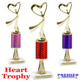 Victory Heart  trophy.  Great trophy for your pageants, events, contests and more!   1 Column w/stem..