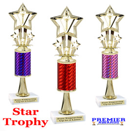 Star  trophy.  Great trophy for your pageants, events, contests and more!   1 Column w/stem..