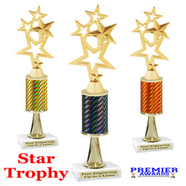 Star  trophy.  Great trophy for your pageants, events, contests and more!   1 Column w/stem.. 4115
