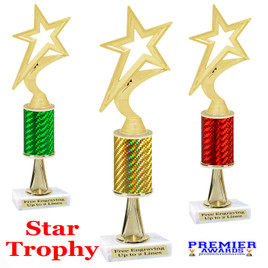 Star  trophy.  Great trophy for your pageants, events, contests and more!   1 Column w/stem.. 5000g