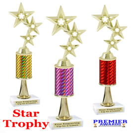 Star  trophy.  Great trophy for your pageants, events, contests and more!   1 Column w/stem.. 5061g