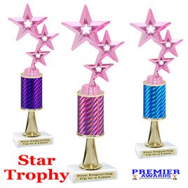 Star  trophy.  Great trophy for your pageants, events, contests and more!   1 Column w/stem.. 5061p