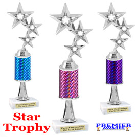 Star  trophy.  Great trophy for your pageants, events, contests and more!   1 Column w/stem.. 5061s