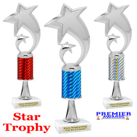 Star  trophy.  Great trophy for your pageants, events, contests and more!   1 Column w/stem.. 5080s