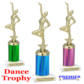 Dance trophy.  Great for your dance recitals, contests, gymnastic meets, schools and more.