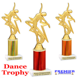 Dance trophy.  Great for your dance recitals, contests, gymnastic meets, schools and more. 5009-g